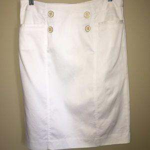Classic white sailor pencil skirt for summer.